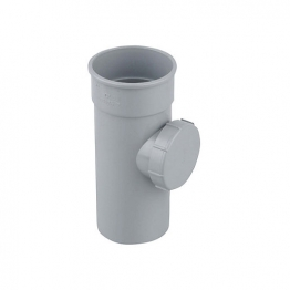 Osma Roundline 0t274 Access Pipe With Screwed Door 68mm Grey