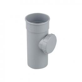 Osma Roundline 0t274 Access Pipe With Screwed Door 68mm Grey