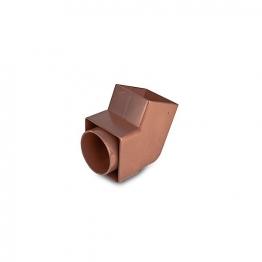 Osma Squareline 4t826 Offset Bend Spigot 61mm Brown