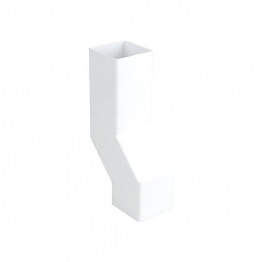 Osma Squareline 4t838 Pipe Wall Offset 61mm White
