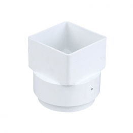 Osma Squareline 4t837 Outlet Adaptor Square To Round 61mm White