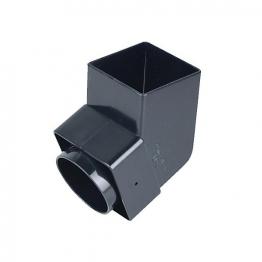 Osma Squareline 4t826 Offset Bend Spigot 61mm Black