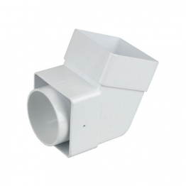 Osma Squareline 4t825 Offset Bend Socket 61mm White