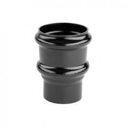 Alutec Tudor 63mm Pipe Socket Non Eared Heritage Black