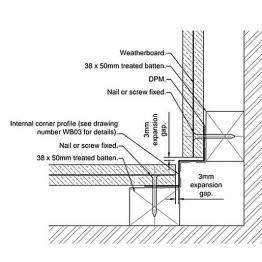 Cedral Internal Corner L=3m Alu C01 White