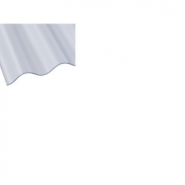 Ariel Vistalux 3 In Standard Light Weight Corrugated Pvc Sheet 8 X 0.8mm 30 In