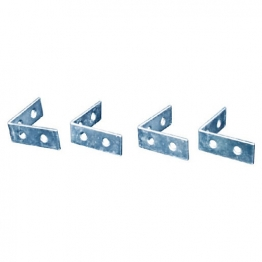 4trade Corner Braces Zinc Plated 50mm Pack Of 4