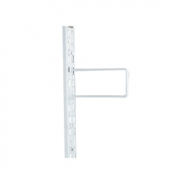 Twinslot Flexible Bookends 200mm White (pk 2) Antibacterial Coated