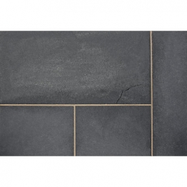 Marshalls Fairstone Black Charcoal Limestone Paving Pack 275mm X 275mm X 22mm