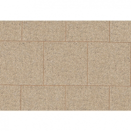 Marshalls Perfecta Fine Ground Buff Chamfered Paving Slab 450mm X 450mm X 35mm