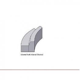 Concrete Kerb 125x150mm Bull Nosed Radius External 3m Bs7263.3