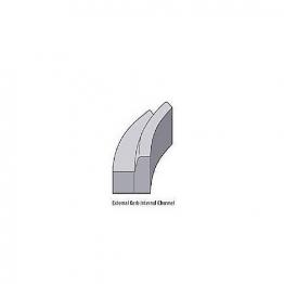 Concrete Kerb 125x255mm Half Battered Radius External 3m Bs7263.3