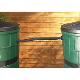Straight Water Butt Linking Kit Black 0.5m