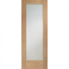 Hardwood Oak Shaker Pattern 10 Clear Glazed Internal Door 2032mm X 813mm X 35mm