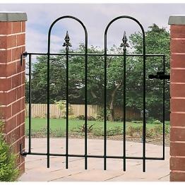 Burbage V05 Village Hoop Top Metal Garden Gate Fits 914mm Gap X 914mm High Green Colour