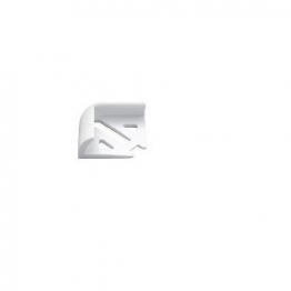 Homelux Tile Trim Corner Pieces White 6mm 2 Pack Hpcs2wh