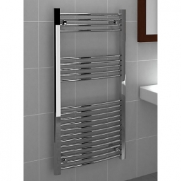 Curved Chrome Towel Rail 1200mm X 600mm