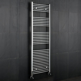Curved Chrome Towel Rail 1800mm X 600mm