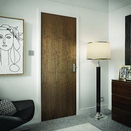 Flush Walnut Veneer Hollow Core Internal Door 1981mm X 610mm X 35mm