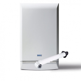 Baxi Platinum 33kw Combi Boiler & Standard Horizontal Flue Pack Erp