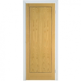 Flush Oak Veneer 1 Panel Internal Door 1981mm X 610mm X 35mm