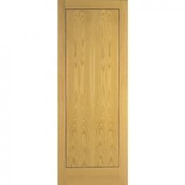 Flush Oak Veneer 1 Panel Fd30 Fire Internal Door 1981mm X 762mm X 44mm