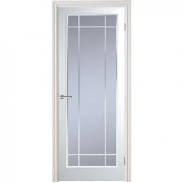 Moulded Manhattan 10 Light Arch Top Textured White Leaded Standard Core Internal Door 1981mm X 762mm X 35mm