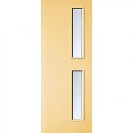 Internal Flush Ash Veneer Fd30 Fire Door 16g Clear Glazed 1981mm X 762mm X 44mm