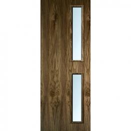 Internal Flush Walnut Veneer Fd30 Door 16g Glz Clr 1981mm X 838mm X 44mm