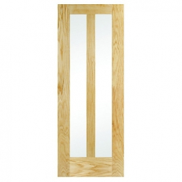 Hardwood 2 Panel Oak Glazed Internal Door 1981mm X 838mm X 35mm