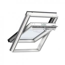 Velux Integra Solar Roof Window 550mm X 1180mm White Polyurethane Ggu Ck06 006630