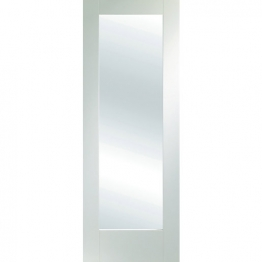 Moulded White Primed Pattern 10 With Obsure Glass Internal Door 1981mm X 838mm X 35mm