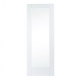 Moulded White Primed Pattern 10 With Obsure Glass Internal Door 1981mm X 762mm X 35mm