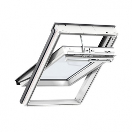 Velux Integra Solar Roof Window 1340mm X 980mm White Polyurethane Gguuk04006030