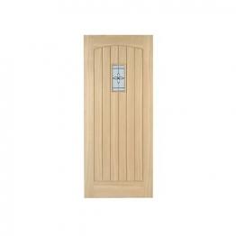 External Croft Oak Double Glazed Leaded Door 1981mm X 838mm X 44mm