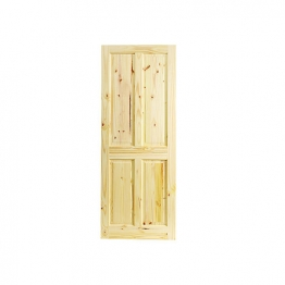 Softwood Knotty 4 Panel Pine Internal Door 1981mm X 838mm X 35mm