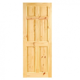 Softwood Knotty Pine 6 Panel Internal Door 1981mm X 838mm X 35mm