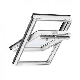 Velux Centre Pivot Roof Window 550mm X 1180mm White Polyurethane Ggu Ck06 0062
