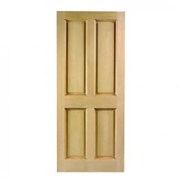 London 4 Panel Hardwood Veneer External Door 2032mm X 813mm X 44mm