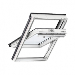 Velux Centre Pivot Roof Window 550mm X 1180mm White Polyurethane Ggu Ck06 0070