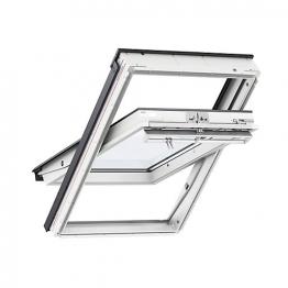 Velux Centre Pivot Roof Window 940mm X 1600mm White Polyurethane Ggu Pk10 0060
