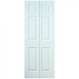 Moulded 6 Panel Smooth Hollow Core Bi-fold Door 1981mm X 762mm X 35mm
