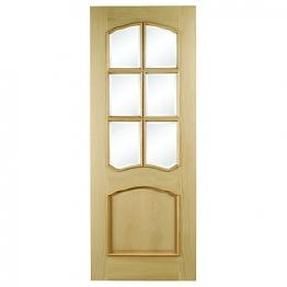 Hardwood Louis Oak Raised Mould Bevel Glazed Internal Door 1981mm X 686mm X 35mm