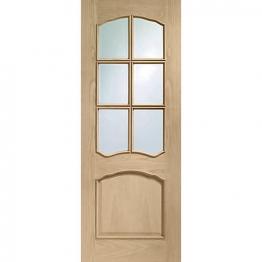 Oak Riviera Raised Mouldings Glazed Internal Door 1981 X 838 X 35mm