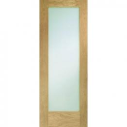 Hardwood Oak Shaker Pattern 10 Internal Door With Obscure Glass 1981mm X 762mm X 35mm