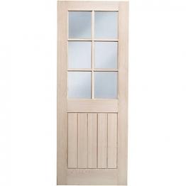 Hardwood Oak Suffolk 6 Light Glazed Internal Door 1981mm X 762mm X 35mm