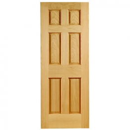 Hardwood Oak Colonial 6 Panel Non Raised Mouldings Internal Door 1981mm X 838mm X 35mm