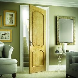 Hardwood Oak Louis Raised Mouldings Internal Door 1981mm X 610mm X 35mm