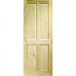 Softwood Victorian 4 Panel Clear Pine Internal Door 1981mm X 610mm X 35mm