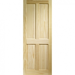 Softwood Victorian 4 Panel Clear Pine Internal Door 1981mm X 838mm X 35mm